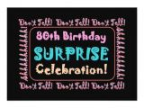 Invitations for 80th Birthday Surprise Party 80th Surprise Birthday Party Invitation Template