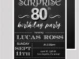 Invitations for 80th Birthday Surprise Party Surprise 80th Birthday Party Invitations by Diypartyinvitation