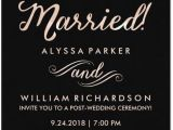 Invitations for A Wedding Reception Only 21 Beautiful at Home Wedding Reception Invitations
