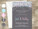 Invitations for Gender Reveal Party Gender Reveal Invitation Confetti Gender Reveal Party