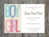 Invitations for Gender Reveal Party Gender Reveal Party Invitation Printable by Printyourheartout