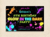 Invitations for Glow In the Dark Party Glow In the Dark Party Invitation