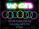 Invitations for Glow In the Dark Party Glow In the Dark Party Invitations theruntime Com