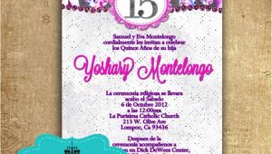 Invitations for Quinceaneras In Spanish Purple Fuchsia Quinceanera Invitations In Spanish