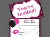 Invitations for Teenage Girl Birthday Party Birthday Invitation Blank Invitation Cards Superb