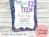 Invitations for Teenage Girl Birthday Party Tween to Teen Birthday Party Invitation by