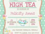 Invitations to A High Tea Party High Tea Invitation Printable for Bridal by