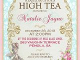 Invitations to A High Tea Party Marie Antoinette High Tea Invitation French Tea Party for