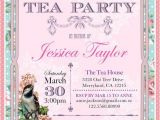 Invitations to A High Tea Party Printable High Tea Party Invitation Shabby Chic Bridal