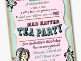 Invitations to A Mad Hatter Tea Party Mad Hatter Invitation Birthday Tea Party Custom by