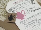 Invitations to A Tea Party Bridal Shower Tea Party Invitations Vintage Bridal
