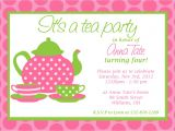 Invitations to A Tea Party Custom Printable Tea Party Invitation