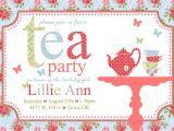 Invitations to Tea Party Samples Free afternoon Tea Invitation Template