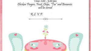Invitations to Tea Party Samples Tea Party Invitation Template theruntime Com