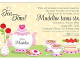 Invitations to Tea Party Samples Tea Party Invitation Wording theruntime Com