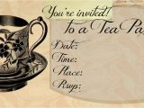 Invitations to Tea Party Samples Tea Party Invitations Free Template Best Template Collection