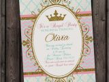 Invite A Princess to Your Party Princess Invitation Royal Party Gold Elegant with Free