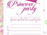 Invite A Princess to Your Party Princess Party Birthday Party Invites with Envelopes Pack