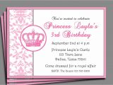 Invite A Princess to Your Party Princess Party Invitation Printable or Printed with Free