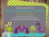 Inviting Friends for Birthday Party Monster Friends Birthday Invitation Birthday Invite Boy