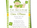 Irish Baby Shower Invitations Irish Baby Shower Invitation St Patricks Day Babyshower