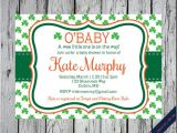 Irish Baby Shower Invitations Printable Irish Shamrock Invitation Shamrock Birthday