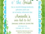 Irish Baby Shower Invitations Shamrock Irish Baby Shower Invitation Luck O the Irish