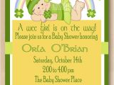Irish Baby Shower Invitations St Patrick Baby Girl Shower Invitation Irish by