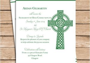 Irish Baptism Invitations Items Similar to Celtic Baptism Invitation Christening