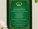 Irish Bridal Shower Invitations Claddagh Ring Celtic Knots Irish Bridal Wedding Shower