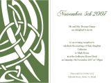 Irish Wedding Invitations Templates Celtic Wedding Invitations Template Best Template Collection
