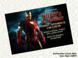 Iron Man Birthday Party Invitations Digyparty Digyparty 39 S Shop Marvel Iron Man Birthday