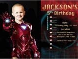 Iron Man Birthday Party Invitations Iron Man Birthday Party Invitation Digital Printable File