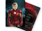Iron Man Birthday Party Invitations Iron Man Birthday Party Personalized Custom Invitation with