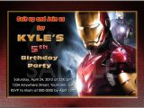 Iron Man Birthday Party Invitations Iron Man Invitations Australia Free Invitations Ideas