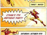 Iron Man Birthday Party Invitations Iron Man Invitations