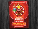 Iron Man Birthday Party Invitations Ironman Invitation Birthday Printable Download