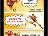Iron Man Birthday Party Invitations Looking for Ideas for Kids Birthday Parties