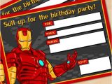 Iron Man Party Invites Free Printable Avengers Iron Man Birthday Invitation