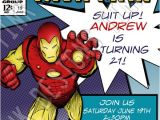 Iron Man Party Invites Invitations Iron Man Birthday 3 Party Favors Avengers