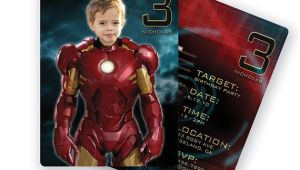Iron Man Party Invites Iron Man Birthday Party Personalized Custom Invitation with