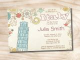 Italian Bridal Shower Invitations Italian Bridal Shower Invitation Printable Digital File or