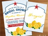 Italian Bridal Shower Invitations Italian themed Wedding Bridal or Baby Shower Invitation