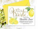 Italian Bridal Shower Invitations Lemon Bridal Shower Invitation Fresh Lemon and Faux Gold