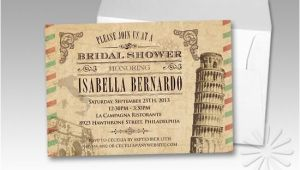 Italian Bridal Shower Invitations Love these Vintage Italian Bridal Shower Invitations