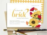 Italian Bridal Shower Invitations Tuscan Sunflower Bridal Shower Invitation Italian Flowers