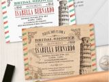 Italian Bridal Shower Invitations Vintage Italian Bridal Wedding Shower Invitation