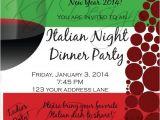 Italian themed Birthday Party Invitations Dinner Party Invitation Digital Version Italian themed