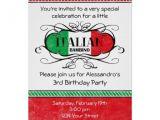 Italian themed Birthday Party Invitations Italian Bambino D Birthday Party Invitation Party