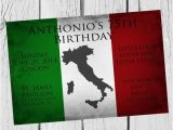 Italian themed Birthday Party Invitations Italian Birthday Party Invitation Celebrate Any Birthday